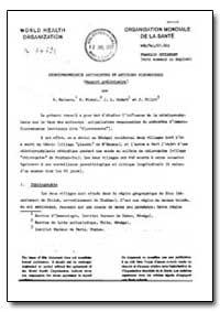 Health Organisation, Malaria Comission; ... by P. Mattern