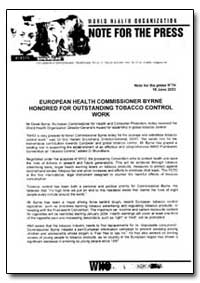 World Health Organization Note for the P... by World Health Organization