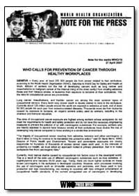 World Health Organization Note for the P... by Maria P. Neira, Dr.