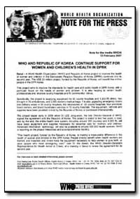 World Health Organization Note for the P... by Duk Haeng Lee