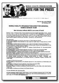 World Health Organization Note for the P... by Anarfi Asamoa-Baah, Dr.