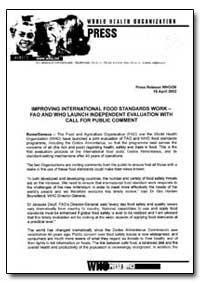 World Health Organization : Press Releas... by World Health Organization