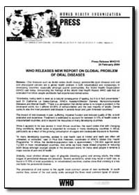 World Health Organization : Press Releas... by World Health Organization