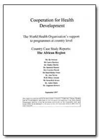 World Health Organization Publication : ... by Bo Stenson