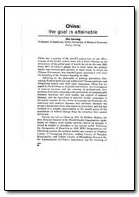 World Health Organization Publication : ... by Zhu Ao-Rong