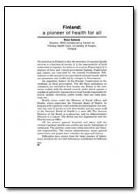 World Health Organization Publication : ... by Reijo Salmela