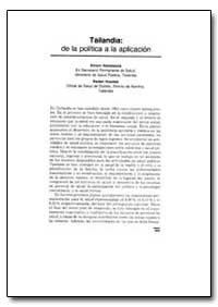 World Health Organization Publication : ... by Amorn Nondasuta