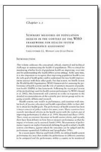 World Health Organization Publication : ... by Julio Frenk
