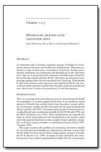 World Health Organization Publication : ... by John Brazier