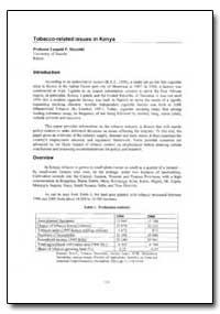 World Health Organization Publication : ... by Leopold P. Mureithi