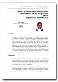 World Health Organization Publication : ... by Jane Masiga