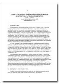 World Health Organization Publication : ... by Joseph A. Cotruvo