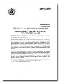 Statement, Year 2003 - Statement, No. 03... by World Health Organization