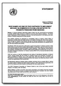 Statement, Year 2006 - Statement, World ... by World Health Organization