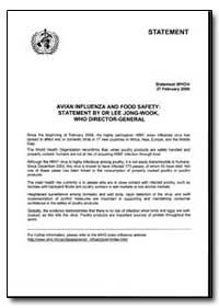 Statement, Year 2006 - Statement, World ... by World Health Organization