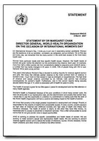 Statement, Year 2007 - Statement, World ... by World Health Organization