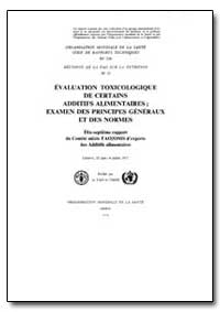 World Health Organization : Technical Re... by F. Berglund