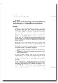World Health Organization : Technical Re... by World Health Organization