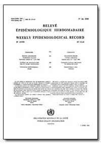 World Health Organization, Weekly Epidem... by World Health Organization