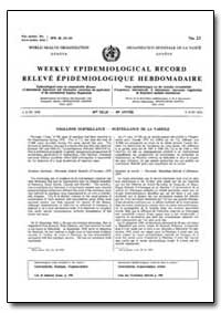 World Health Organization, Weekly Epidem... by World Health Organization