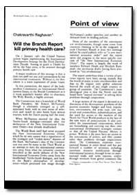World Health Organization : World Health... by Chakravarthi Raghavan