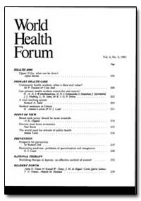 World Health Organization : World Health... by Alfred Merkle