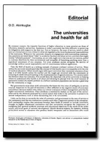 World Health Organization : World Health... by O. O. Akinkugbe