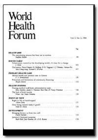 World Health Organization : World Health... by Halfdan Mahler