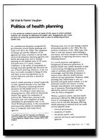 World Health Organization : World Health... by Gill Walt