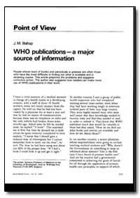 World Health Organization : World Health... by J. M. Bishop