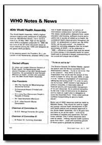 World Health Organization : World Health... by Pilar Djombe De Mbuamangongo, Mrs.