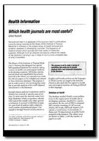 World Health Organization : World Health... by Gilbert Roelants