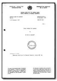 World Health Organization : Regional Off... by M. F. R. Waters, Dr.