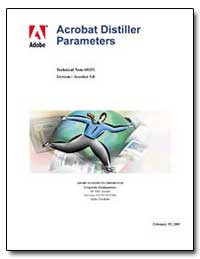 Acrobat Distiller Parameters : Technical... by Adobe Systems