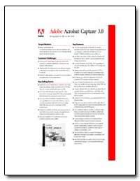 Adobe Acrobat Capture 3. 0 [Features] by Adobe Systems
