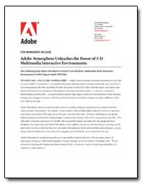 Adobe Atmosphere Unleashes the Power of ... by Adobe Systems