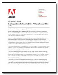 Bentley and Adobe Team to Drive Pdf as a... by Adobe Systems