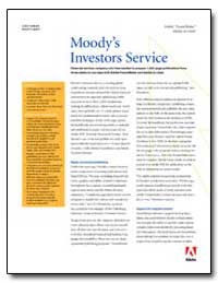 Moodys Investors Service : Financial Ser... by Adobe Systems