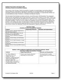 Adobe Form Client and Section 508 Volunt... by Adobe Systems