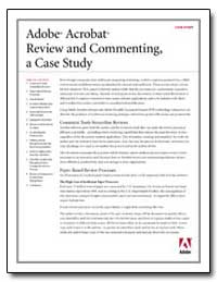 Adobe Acrobat Review and Commenting : A ... by Adobe Systems