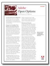 Adobe Open Options : Maintenance Program by Adobe Systems