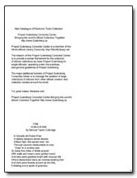 Kubla Khan by Coleridge, Samuel Taylor