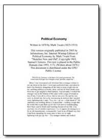Political Economy by Twain, Mark