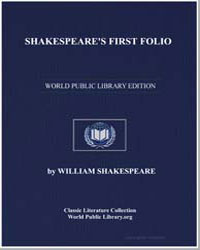 Shakespeare's First Folio by Shakespeare, William