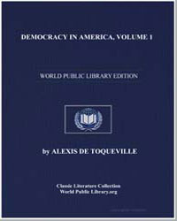 Democracy in America, Volume 1 by De Toqueville, Alexis