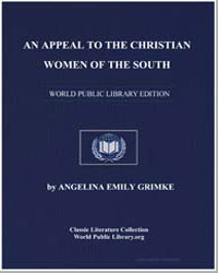 An Appeal to the Christian Women of the ... by Grimke, Angelina Emily