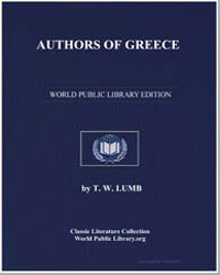 Authors of Greece by Lumb, T. W.