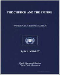 The Church and the Empire by Medley, D. J.