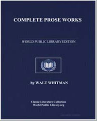 Complete Prose Works by Whitman, Walt