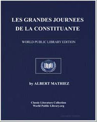 Les Grandes Journees de la Constituante by Mathiez, Albert